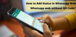 How to add status in Whatsapp Web