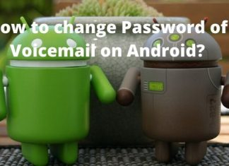 How to change Password of Voicemail on Android?