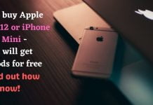 If you buy Apple iPhone 12 or iPhone 12 Mini - You will get AirPods for free - Find out how now!